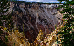 Grand canyon of yellow stone national park Royalty Free Stock Images