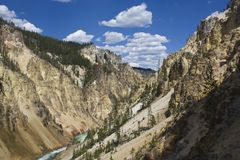 Grand Canyon of Yellowstone Stock Photos