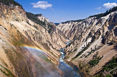Grand Canyon of the Yellowstone National Park Stock Image