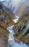 The Grand Canyon of the Yellowstone National Park Stock Images