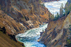 The Grand Canyon of the Yellowstone National Park Stock Photo