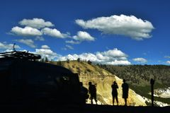 Grand Canyon of the Yellowstone Park Royalty Free Stock Photography