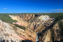 Grand Canyon of the Yellowstone River Stock Photography