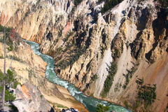 Grand Canyon of the Yellowstone River Royalty Free Stock Photos