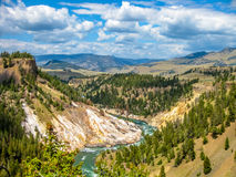 Grand Canyon in Yellowstone River Stock Photography