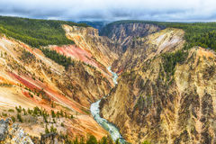 Grand Canyon of the Yellowstone Stock Images