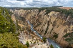 The Grand Canyon of Yellowstone stock photo