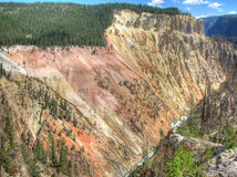 Grand Canyon of the Yellowstone in Wyoming, USA Royalty Free Stock Photos