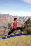 Grand Canyon Yoga Stock Image