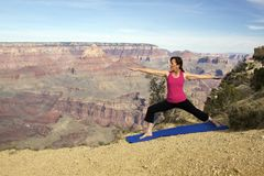 Grand Canyon Yoga Practice Stock Images