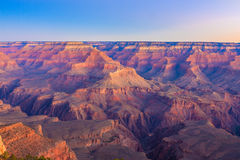 Grand Canyon -Zonsopgang van Mather Point Royalty-vrije Stock Foto