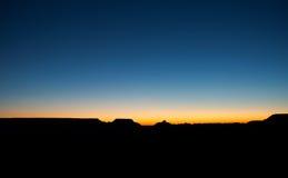 Grand Canyon -Zonsopganghemel Arizona Stock Fotografie