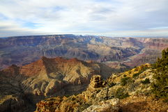 Grand Canyon -Zuiden Rim Overview royalty-vrije stock afbeelding