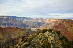 Grand Canyon -Zuiden Rim Overview Stock Foto's