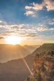 Grand Canyon -zuidenrand in Arizona Stock Foto
