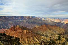 Grand Canyon -Zuidenrand met bewolking royalty-vrije stock afbeelding