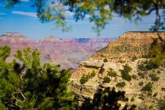 Grand Canyonansicht von der Südfelge Stockfotografie