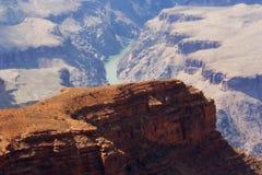 Grand Canyonansicht von Kolorado-Fluss Lizenzfreies Stockfoto