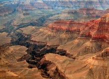 Grand Canyonformular die Luft Stockbild