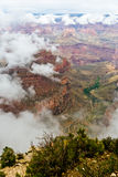 Grand- CanyonNationalpark-Wolken-Umstellung Stockfoto