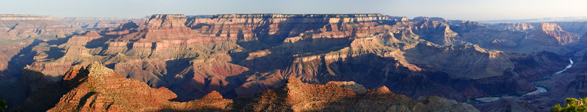 Grand- Canyonpanorama Lizenzfreie Stockfotos