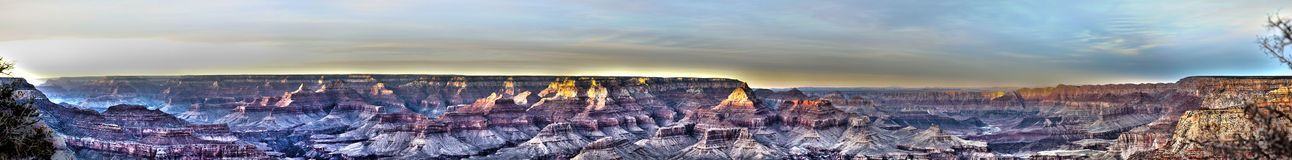 Grand Canyonpanorama Stockfoto