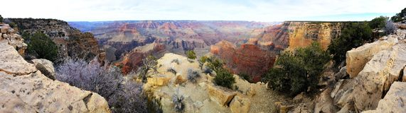 Grand Canyonpanorama Lizenzfreies Stockfoto
