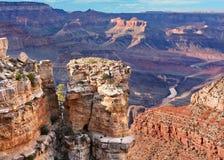 Grand- Canyonsüdfelge übersehen Lizenzfreie Stockbilder