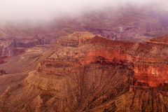 Grand Canyons in snow Royalty Free Stock Photo