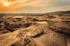 Grand canyonsam pan bok, Beautiful landscape of rock in Mekong Stock Photography
