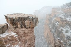 Grand- Canyonschnee Stockfotos