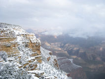 Grand CanyonSnow Royaltyfri Foto