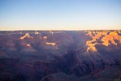Grand Canyonsolnedgångutsikt Royaltyfri Bild