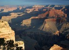 Grand- Canyonsonnenaufgang Stockfoto