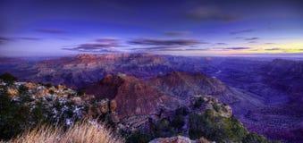Grand- Canyonsonnenuntergang stockfotografie