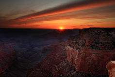 Grand Canyonsonnenuntergang Lizenzfreie Stockbilder