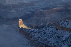 Grand Canyonvintersoluppgång Royaltyfria Foton