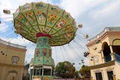 Grand carrousel en parc de Prater photo libre de droits