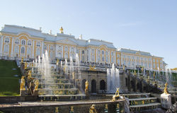Free Grand Cascade Fountains At Peterhof Palace, St. Petersburg. Royalty Free Stock Photo - 48614485