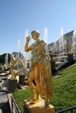 Grand Cascade Fountains of Peterhof Palace Royalty Free Stock Images