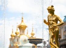 Grand cascade fountains at Peterhof palace Stock Photo
