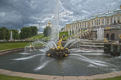 Grand Cascade Fountains, Peterhof Palace, Russia Stock Image