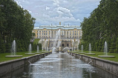 Grand Cascade Fountains Peterhof Palace Russia Royalty Free Stock Photo