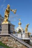 Grand cascade fountains at Peterhof Palace Royalty Free Stock Photos