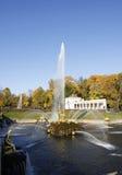 Grand Cascade Fountains At Peterhof Palace, St. Petersburg. Stock Photo