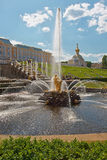 Grand Cascade fountains of Peterhof Royalty Free Stock Photography