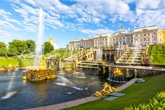 Free Grand Cascade Of Peterhof Palace And Samson Fountain, St. Petersburg, Russia Stock Photo - 163902090