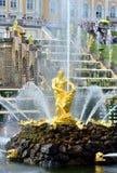 The Grand Cascade, palace and Samson Fountain in Peterhof, Stock Photos