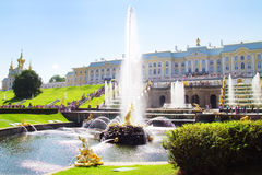 Grand cascade in Pertergof Royalty Free Stock Images