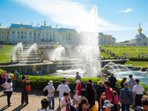 Grand cascade in Pertergof Royalty Free Stock Image